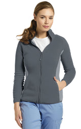 Pewter - White Cross Fleece Jacket