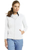 White - White Cross Fleece Jacket
