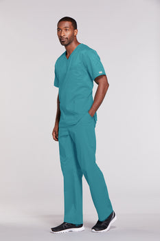 Teal Blue - Cherokee Workwear Core Stretch Unisex V-Neck Top