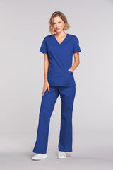 Galaxy Blue - Cherokee Workwear Core Stretch Mock Wrap Top