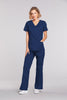 Navy - Cherokee Workwear Core Stretch Mock Wrap Top