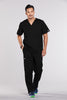Black - Cherokee Workwear Core Stretch Men's V-Neck Top