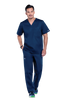 Navy - Cherokee Workwear Core Stretch Men's V-Neck Top