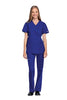 Galaxy Blue - Cherokee Workwear Originals Mock Wrap Tunic