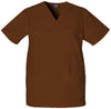 Chocolate - Cherokee Workwear Originals Unisex V-Neck Top