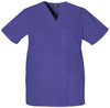 Grape - Cherokee Workwear Originals Unisex V-Neck Top
