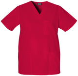 Red - Cherokee Workwear Originals Unisex V-Neck Top