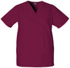 Wine - Cherokee Workwear Originals Unisex V-Neck Top