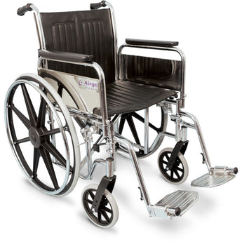 Wheelchair with Fixed Arms and Swing-Away Footrests - Avida Healthwear Inc.