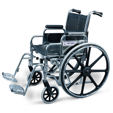 Wheelchair with Desk Arms & Swing-Away Footrests - Avida Healthwear Inc.