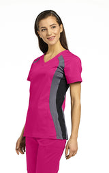 Fuchsia with Pewter & Black - White Cross Allure Double Contrast Sport Top