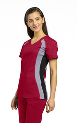 Heritage Red with Pewter & Black - White Cross Allure Double Contrast Sport Top