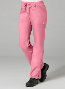 Strawberry Pink - Maevn EON Elastic Zipper Pocket Cargo Pant