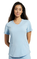 Bliss Blue - White Cross Marvella V-Neck Top