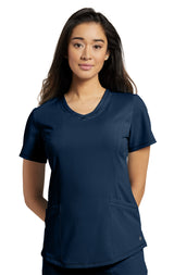 Navy - White Cross Marvella V-Neck Top