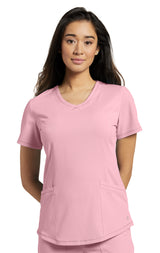 Pink Blush - White Cross Marvella V-Neck Top