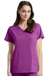 Mystic Violet - White Cross Fit V-Neck Top