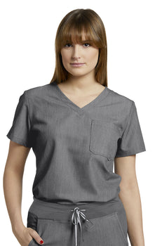 Taylor Grey - White Cross V-Tess One Pocket Top