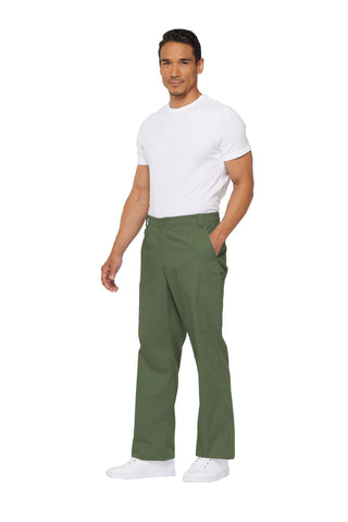 Olive - Dickies EDS Signature Men's Natural Rise Straight Leg Zip Fly Pull On Pant