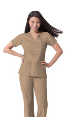 Dark Khaki - Dickies Gen Flex Mock Wrap Top