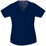 Navy - Dickies Gen Flex Mock Wrap Top