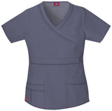 Light Pewter - Dickies Gen Flex Mock Wrap Top
