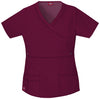 Wine - Dickies Gen Flex Mock Wrap Top