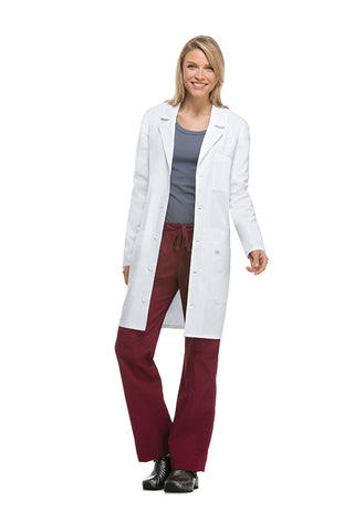 "Dickies White - Dickies Lab Coats 37"" Unisex Lab Coat"