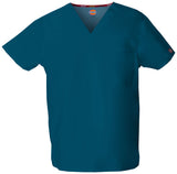 Caribbean Blue - Dickies EDS Signature Unisex V-Neck Top