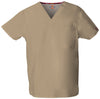 Dark Khaki - Dickies EDS Signature Unisex V-Neck Top