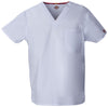 White - Dickies EDS Signature Unisex V-Neck Top