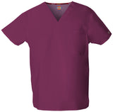 Wine - Dickies EDS Signature Unisex V-Neck Top