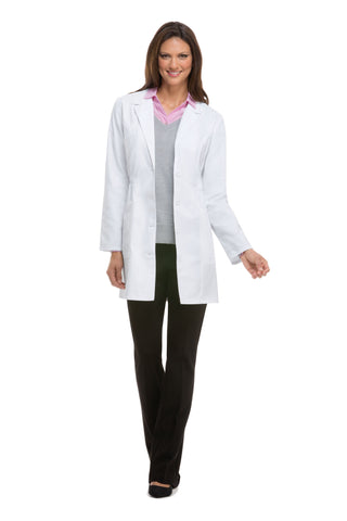 "Dickies Professional Whites 34"" Women's Lab Coat - Avida Healthwear Inc."