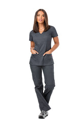 Pewter - Dickies EDS Signature Mock Wrap Top