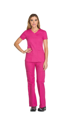 Hot Pink - Dickies EDS Signature V-Neck Top
