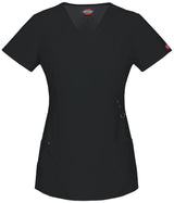 Black - Dickies Xtreme Stretch Mock Wrap Top