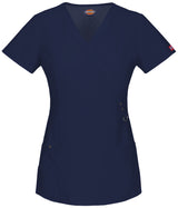 Navy - Dickies Xtreme Stretch Mock Wrap Top