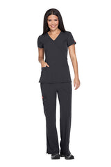 Pewter - Dickies Xtreme Stretch Mock Wrap Top