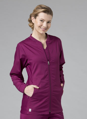 Wine - Maevn EON Sporty Mesh Panel Jacket