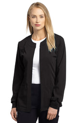 Black - White Cross Marvella Slim Fit Warm Up Jacket