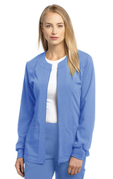 Ceil Blue - White Cross Marvella Slim Fit Warm Up Jacket