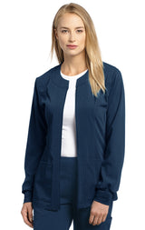 Navy - White Cross Marvella Slim Fit Warm Up Jacket