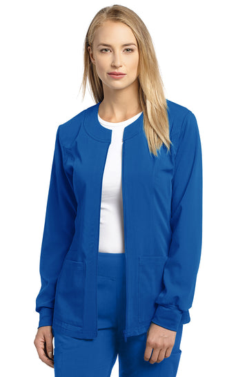 Royal - White Cross Marvella Slim Fit Warm Up Jacket