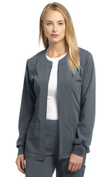 Steel Grey - White Cross Marvella Slim Fit Warm Up Jacket