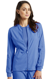 Ceil Blue - White Cross Fit Front Zipper Jacket