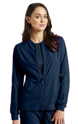 Navy - White Cross Fit Front Zipper Jacket
