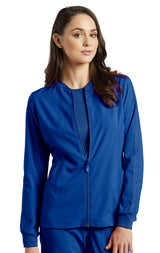 Royal - White Cross Fit Front Zipper Jacket