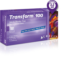Supermax Canada Aurelia Transform 100 Powder Free Nitrile Gloves - Avida Healthwear Inc.