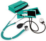 Teal - Prestige Medical Aneroid Sphygmomanometer/Sprague-Rappaport Kit