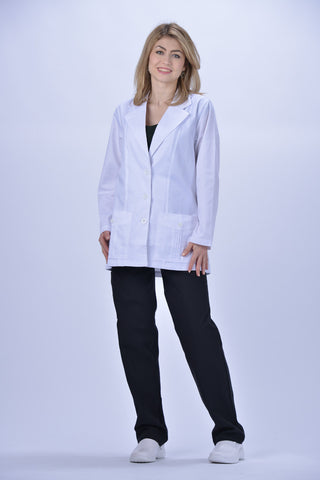 White - Avida Lab Coats Women's Antimicrobial Lab Coat